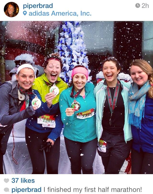 26-year-old Piper Bradley of Portland, Ore. finished her first half marathon in 1:57, surrounded by friends. Follow @run_oregon on Instagram to be the first to see new content and to share your pictures with us!
