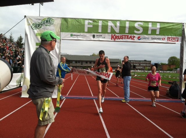 """The winner of the 2012 Eugene Marathon is defininetly a """"fast guy"""". - Photo by Kelly Barten"""
