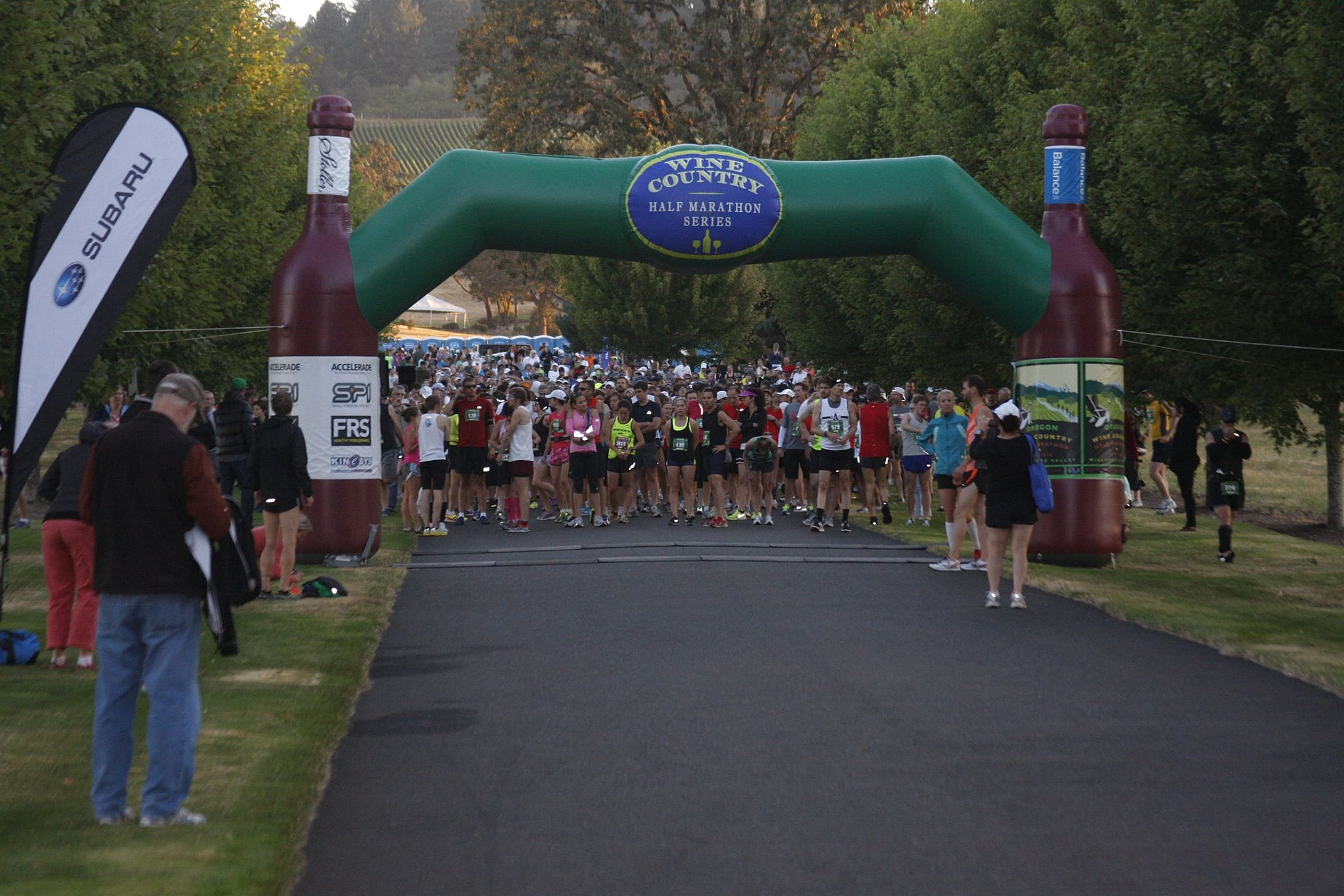 The start of the 2012 Oregon Wine Country Half!
