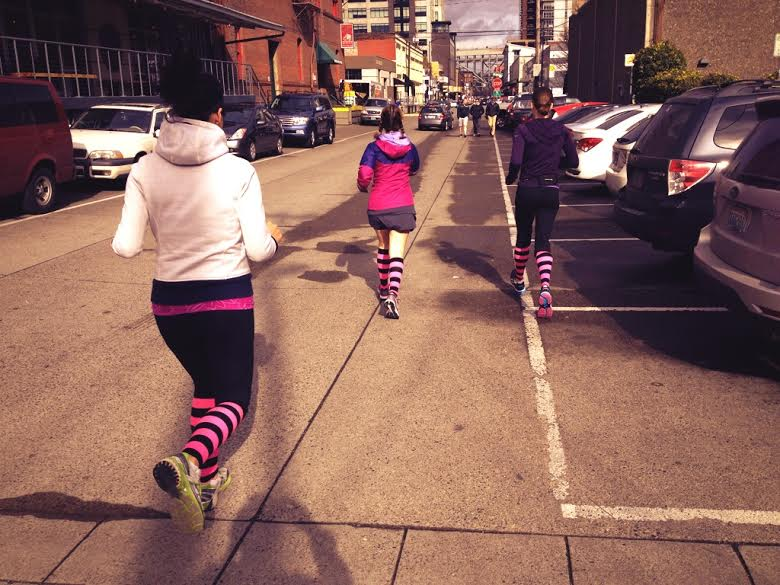 Dashing through Portland, looking for our next fitness hotspot!  Photo credit: Amy Little