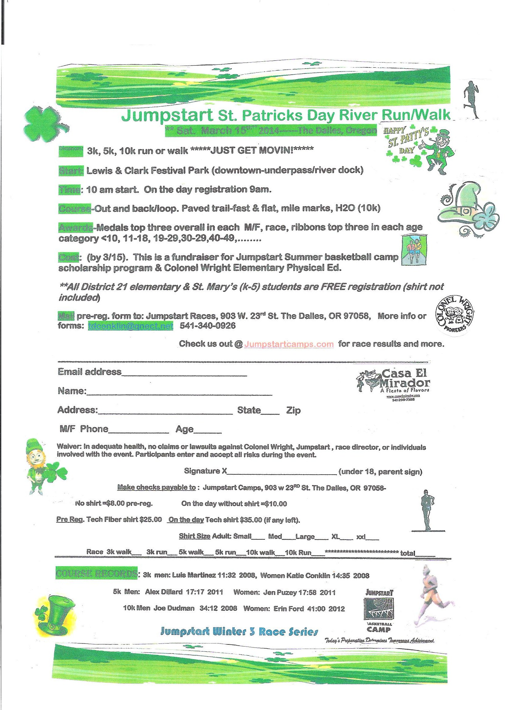 Jumpstart St. Patty's Day registration