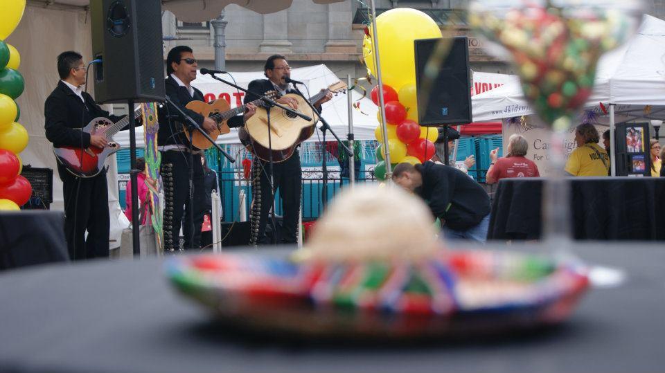 A mariachi band at the Portland Cinco de Mayo Half Marathon, 10k, and 5k. Photo credit: Redtri.com