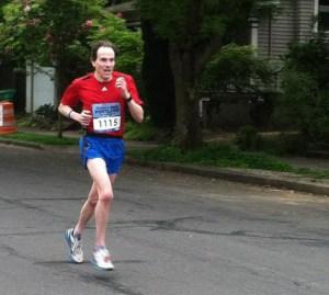 Joe Dudman at the 2012 Portland Rock 'n' Roll Half Marathon.
