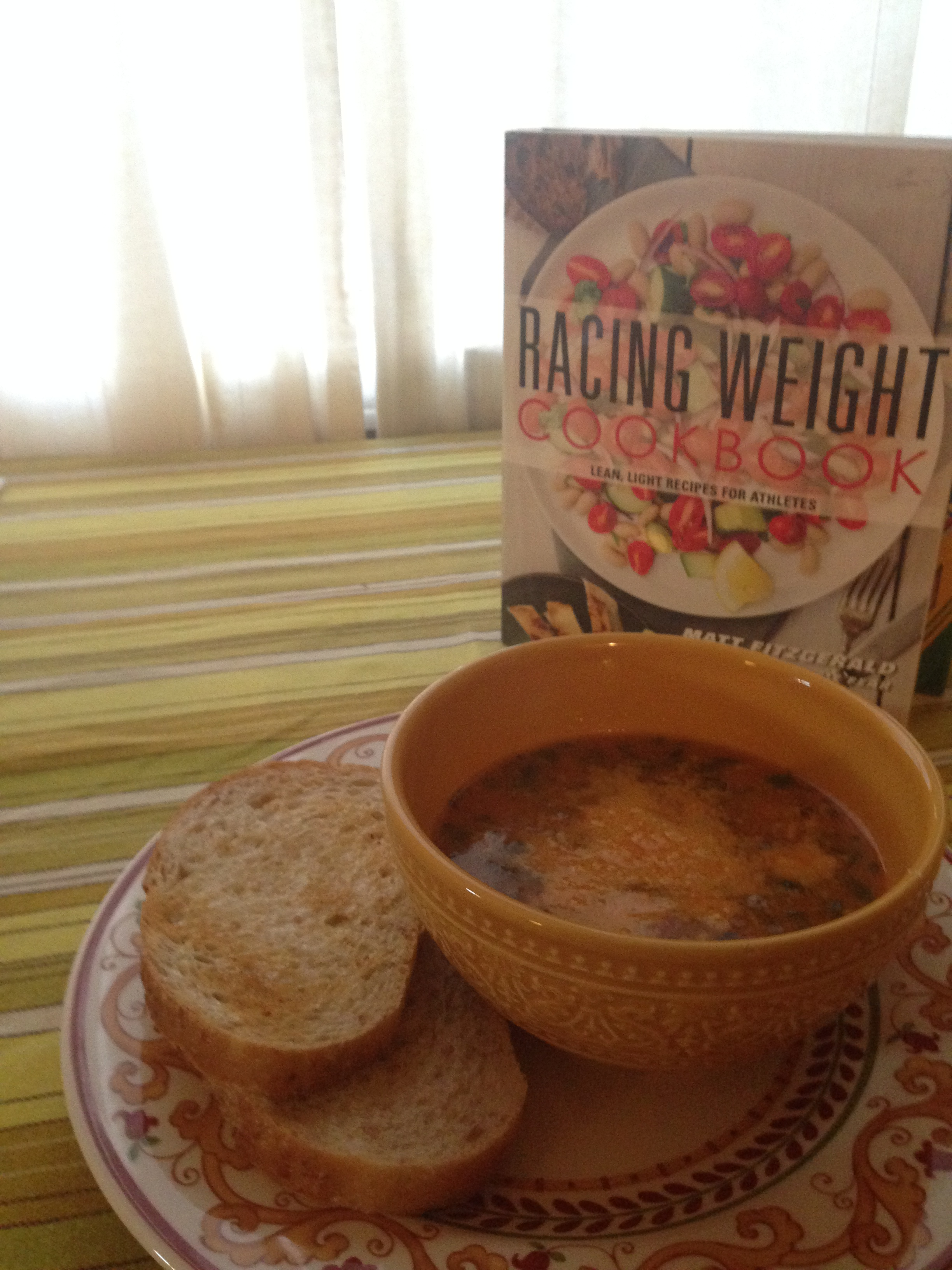Beef and Tomato Florentine Soup and some sourdough toast, so good.