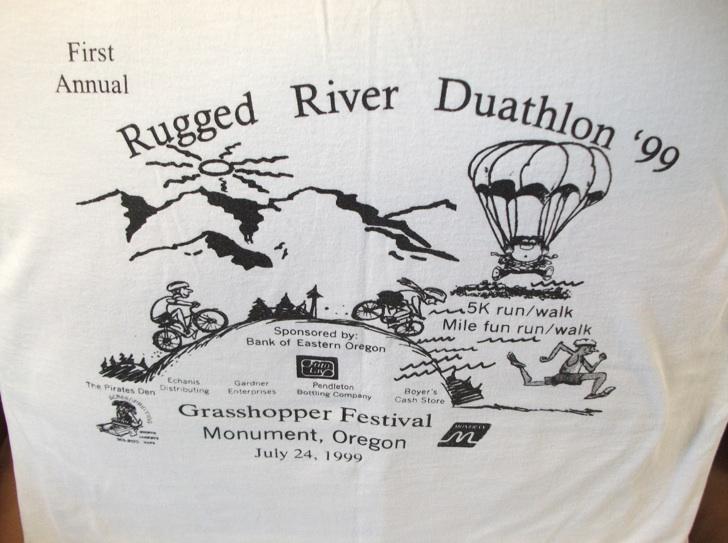 Joe's very limited edition Rugged River 5k T-shirt.