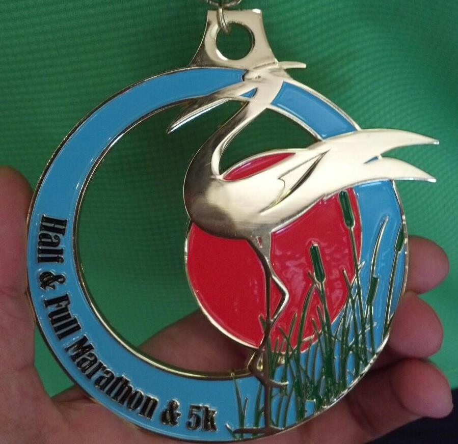 2013 Finisher Medal for the Foot Traffic Flat Marathon and Half Marathon