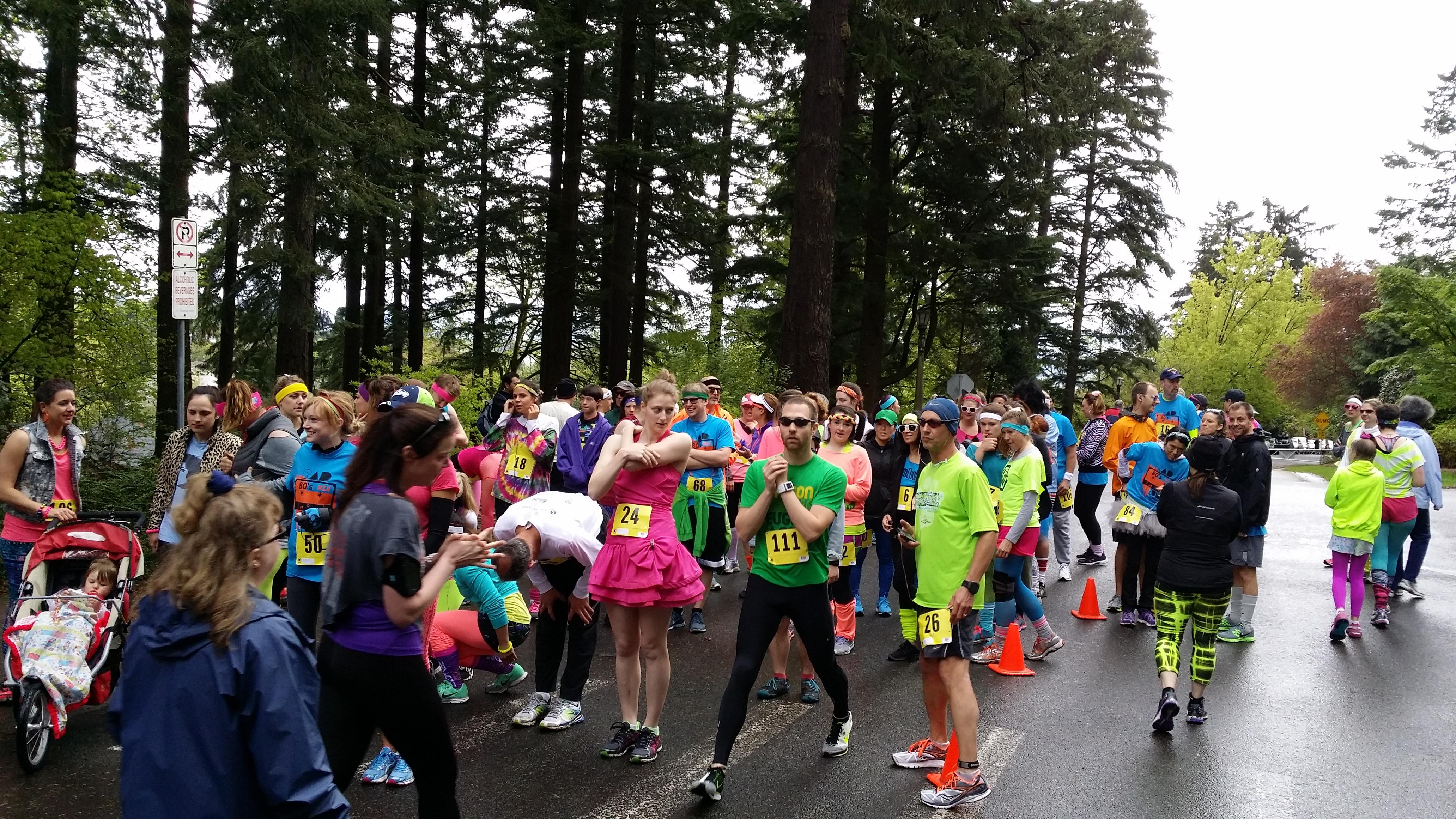 The start of the Rad 80's Run Photo Credit: Amber Corsen