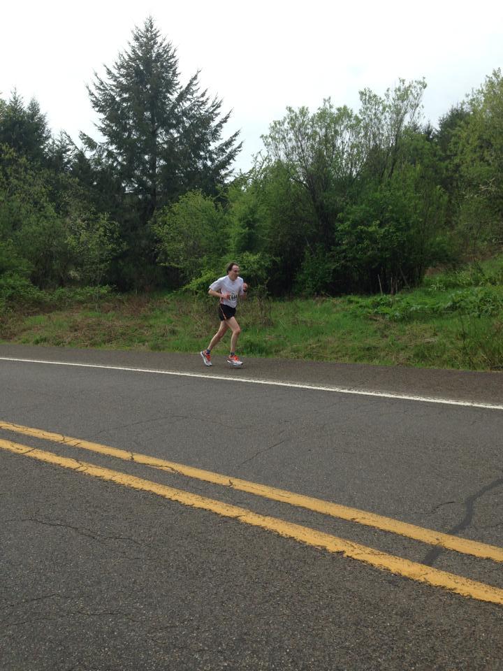 Joe chugs his way up one of the hills at the 2014 Hagg Lake 10k (Dave Bourne photo)