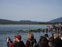 Pacific Crest swim at Wickiup Reservoir