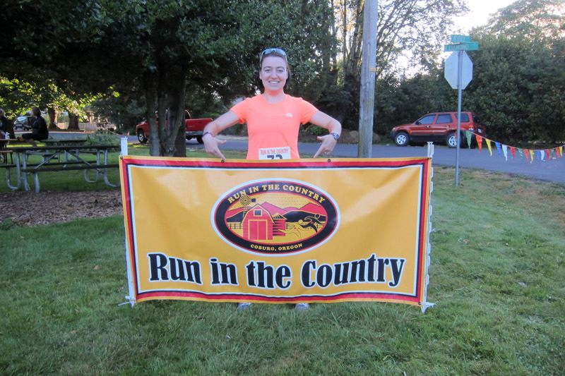 Jessica Mumme at the Run in the Country half marathon during the 2013 event. Photo courtesy of Bryan Mumme.