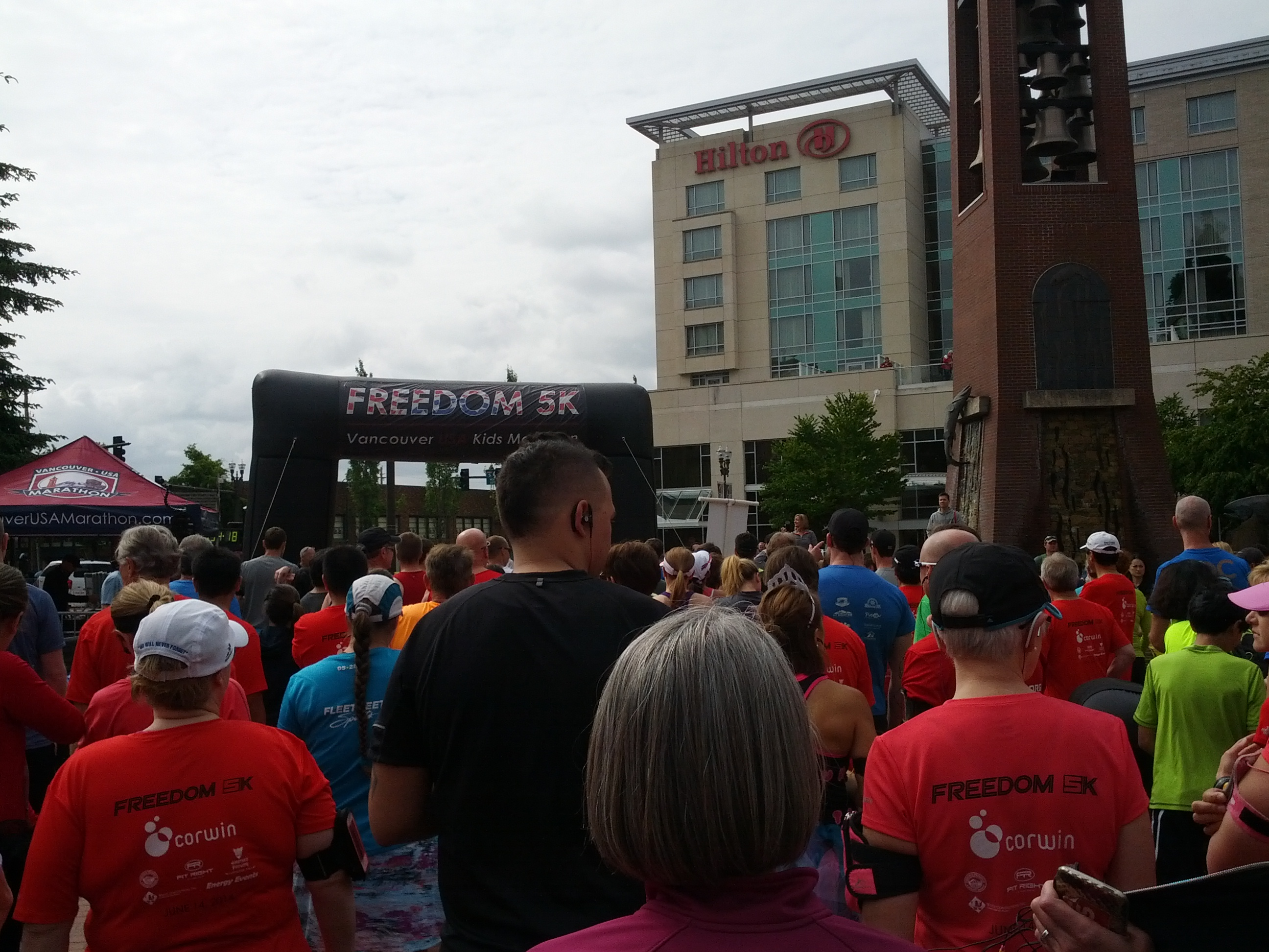 Just before the start of the VUM Freedom 5K on June 14, 2014 (photo by Tung Yin)